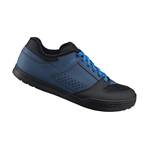 SHIMANO SH-GR500 LSG Series Enduro, Trail, Downhill Cycling Flat Pedal Men's Bicycle Shoes, Navy, 39