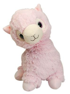 warmies Pink Llama Cozy Plush Heatable Lavender Scented Stuffed Animal