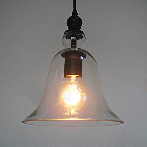 Pantalla de cristal transparente para lámpara,techo retro,accesorio de iluminación vintage,colgante,accesorio de iluminación de cocina cepillado para isla,loft,mostrador,comedor,bar,restaurantes (inco