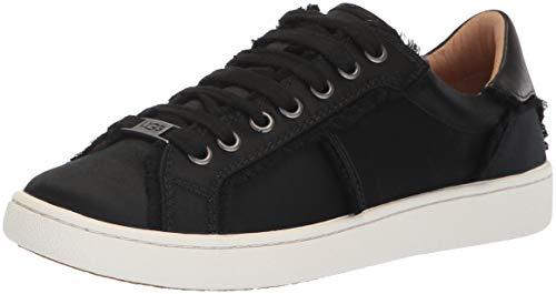 UGG Women's W Milo Spill Seam Sneaker, Black, 7.5 M US