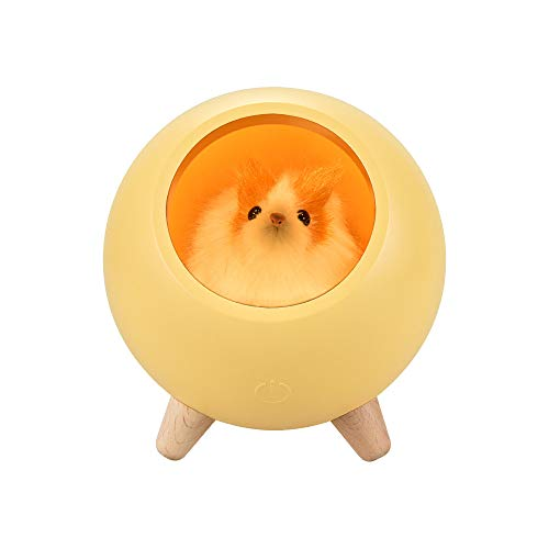 99native LED Nachtlicht Hamster Pet House Ambiente Lampe USB Aufladen Niedlicher Cartoon MINI LED Nachtlicht,Kinderschlafzimmer Party Lichterkette dekorative (Orange)