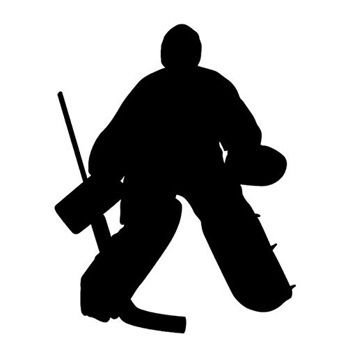 SUIFENG Car Stickers 12x15CM HOCKEY GOALIE Car Sticker Decals Motorcycle Reflective Stickers Car Styling Accessories Black/Silver
