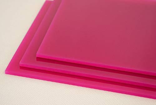 Láminas tableros de metacrilato rosa fuschia OPACO de 3mm. Para decoración, artistas, fotografías, vinyls, soportes, trofeos, CNC, laser, regalos, joyas, bisutería, artesanía, acrílico (Muestr
