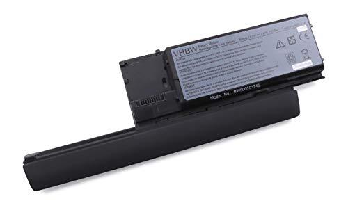 vhbw Batterie Compatible avec Dell Latitude D620, D630, D630 ATG, D630 XFR, D630c, D630N, D631, PP18L Laptop (6600mAh, 11,1V, Li-ION, Noir)