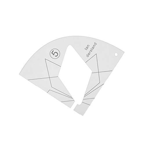 RUIXI Nuevo juego de regla templada para máquina de coser doméstica, 12 tipos de manos libres, reglas de acolchado de acrílico, reglas para acolchados, bordados, máquina de coser, regla y pie