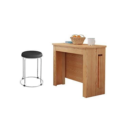 GIAOGIAO Mesa de Comedor Plegable de Madera Maciza, combinación de Mesa y Silla Minimalista Moderna, Mesa de Comedor retráctil para Apartamentos pequeños para el hogar