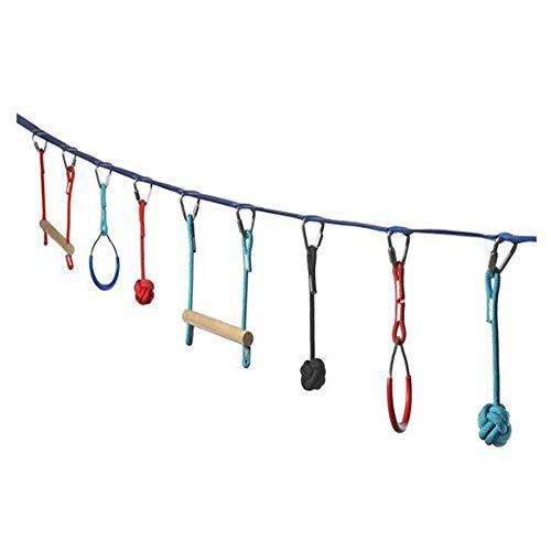 LXQ Outdoor-Kletter-Kombinationsset für Kinder Fun Toys Outdoor-Hindernisse Expansionstraining Gleichgewichtstraining-Set Heimspielplatz-Schlitten Kletternetze, Schwedische Leitern