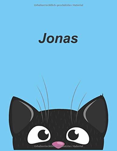Personalisiertes Notizbuch: Jonas - über 100 Seiten, liniert im A4+ Format