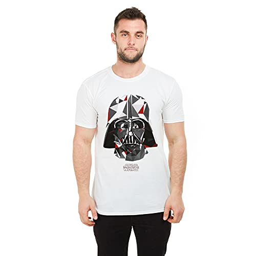 Star Wars Geo Vader Camiseta, Blanco...