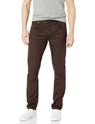 Dickies Men's Slim Taper 5-Pocket Pant, Stonewashed Dark Brown, 36W x 34L