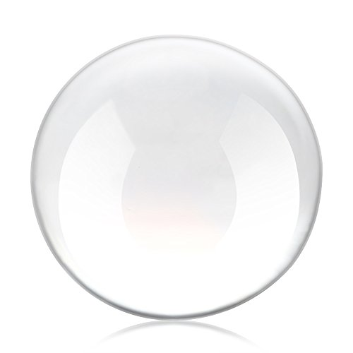 Haavpoois kristallen bol voor fotografie, transparant, decoratie, glazen bol, reflecterend, helder (50 mm)
