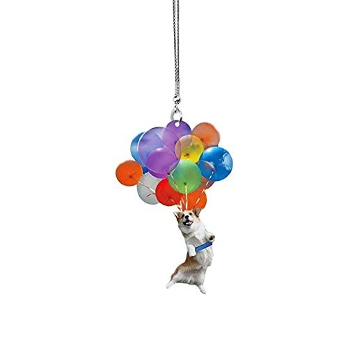 Pomrone Katze Ballon Auto Hängen Verzierung Dekorativer Anhänger Für Katzenliebhaber Mit Bunten Ballons, Lustige Tierauto-Inneneinrichtung Für Frauen Männer Geschenk -3.3inch