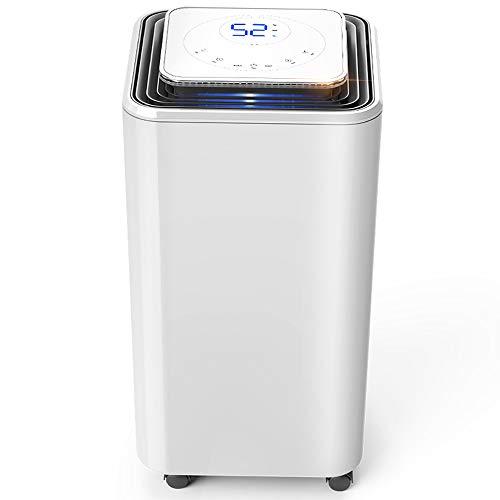 XWSQ Colector de Polvo Inteligente, Purificador de Aire, Secado de Ropa, Absorbedor de Humedad en el Sótano, Dormitorio, Deshumidificador Silencioso, Aspiración de Aire con Controles Digitales para