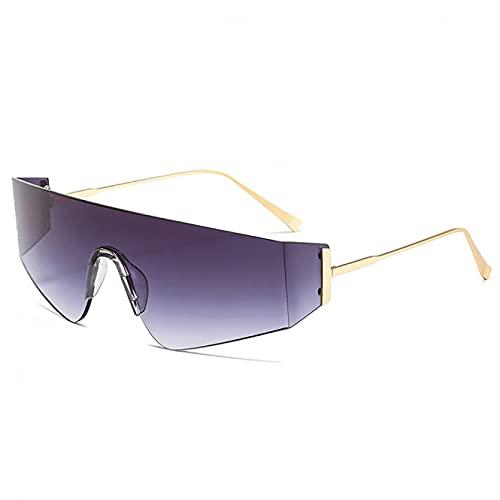 LUOXUEFEI Gafas De Sol Gafas De Sol Sin Montura Mujeres Hombres Gafas De Sol Cuadradas Hombres Gafas De Gran Tamaño Gafas