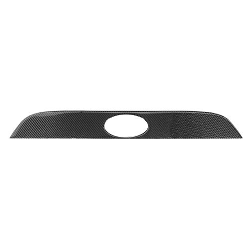 Cubierta de guarnición de la tapa del maletero de la puerta trasera, protector de la tapa de la guarnición del maletero trasero Protector de fibra de carbono Emblema del parachoques de la bota Emblema