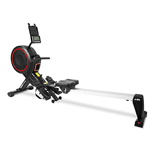 JLL® Ventus 2 Air Resistance Home Rowing Machine, 2021 Model, Fitness Cardio Workout with 8 Levels of Magnetic Resistance, Advanced Driving Belt System, Super Smooth Slideway, 12-Month Warranty