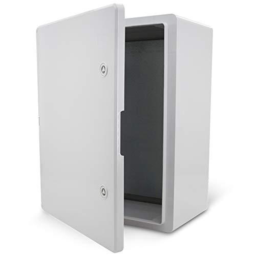 KOOP Elektro Schaltschrank Industriegehäuse IP65 verzinkter Montageplatte Verriegelung Tür mit umlaufender Dichtung Wandgehäuse Gehäuse Leergehäuse ABS Kunststoff leer Schrank 300x400x220 30x40x22