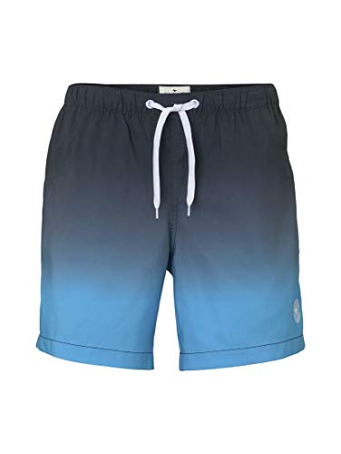 TOM TAILOR Herren Beachwear/Bademode Badeshorts Light Blue Gradient Design,L