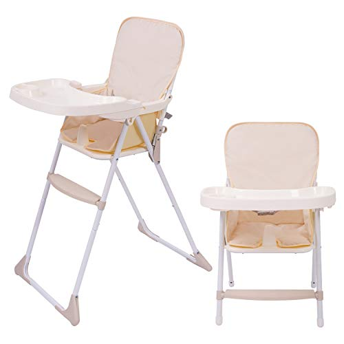 Baby High Chair, High Chair with Removable Tray and Adjustable Legs for Baby/Infants/Toddlers
