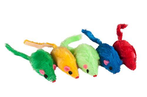Karlie Plüsch Mäuse in Felloptik im Beutel L: 5 cm farblich sortiert