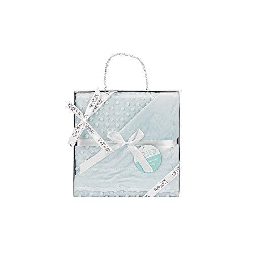 Manta para bebés, 0.80 x 1.10 m Manta para recién Nacidos Mantitas para Bebes Suave y Confortable Cálida niña y niño Mantas para Todas Las Estaciones (Verde)