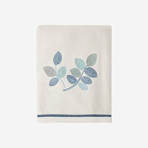 Croscill Mosaic Leaves Spa Bath Towel, Light Cream