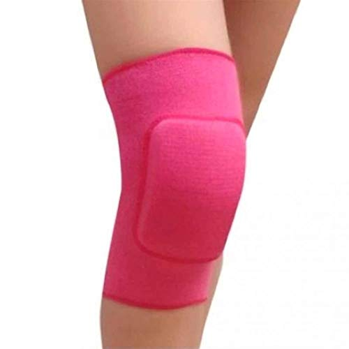 Kniebandage Professionelle Baumwolle Kinder Tanzen Knieschützer Yoga Sport Volleyball Herbst Knie Verdickung Warme Kniepolster 3 Farben for Wahl knee active plus (Color : Rose Red, Size : S)