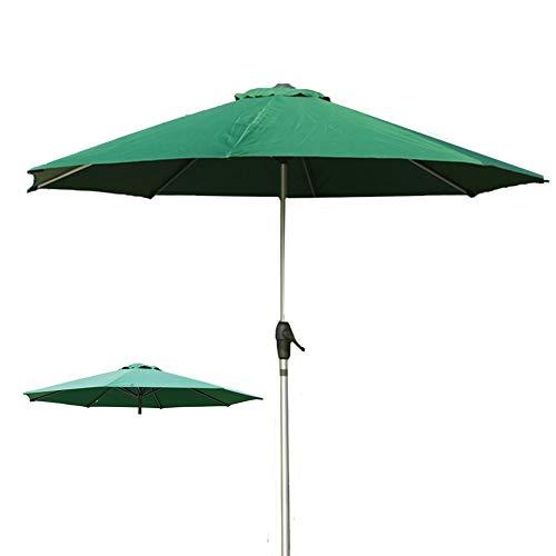 Parasols Rond Pare-Soleil, Auvent Vert Solide et Épais de Parapluie pour 9 Pieds 8 Côtes, Diamètre 2,7 m / 8,9 Pieds
