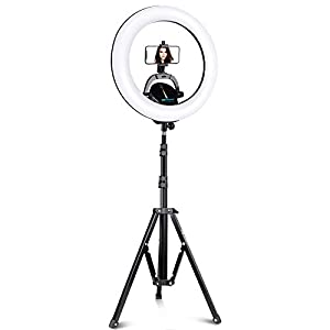 """UBeesize Ring Light Kit: 17.5"""" Outer Led Ring Light with Wireless Control, Professional Bi-Color 3000K-6000K Circle Lights, Up to 5000Lux, Compatible with DSLR Cameras, Cell Phones and Webcams."""