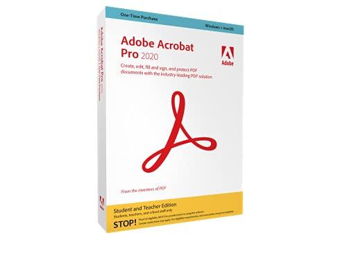 Adobe Acrobat Pro 2020 deutsch für Studenten und Lehrer (Nachweis erforderlich)|EDU||Retail|1 Gerät|unbegrenzt|PC/MAC|Disc|