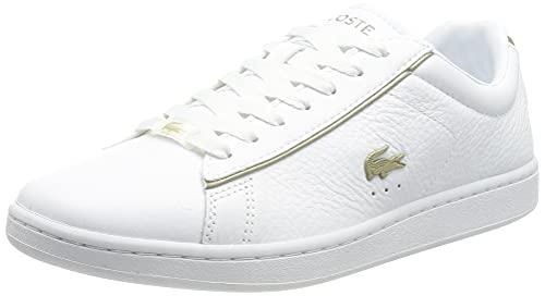 Lacoste Carnaby EVO 0721 3 SFA, Zapatillas Mujer, Wht/Wht, 41 EU