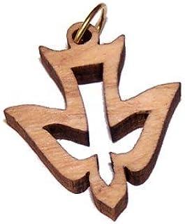 """Holy Spirit Olive Wood Dove Laser (8cm or 3.15"""" Long)"""