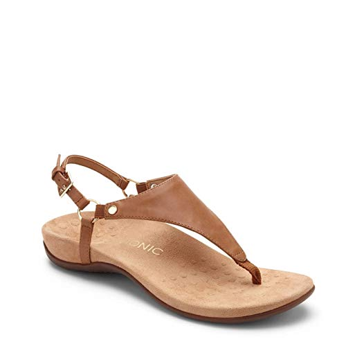 Vionic Kirra Womens Toe Post Sandals 39 EU Braun