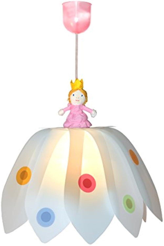 Waldi Leuchten Pendelleuchte Blüte Prinzessin, wei bunt WAL-70461.0