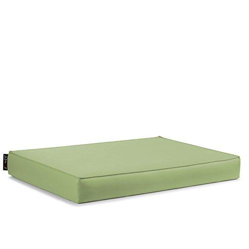 EXTOITALY Bavaro Free Coussin séance pour K511B mis. 82 x 122 H.11 cm divanetti en Palettes de Bois revêtement en Cuir synthétique PVC 10 Couleurs Disponible Vert