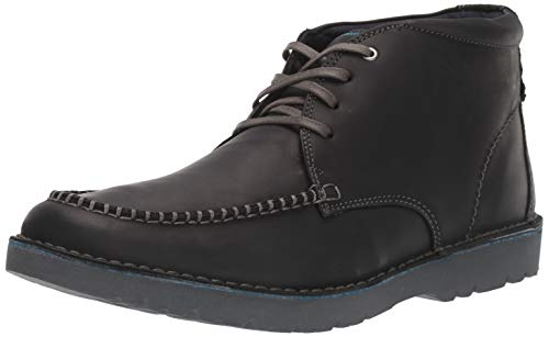 Clarks Men's Vargo Apron Ankle Boot, Black Leather, 7 M US