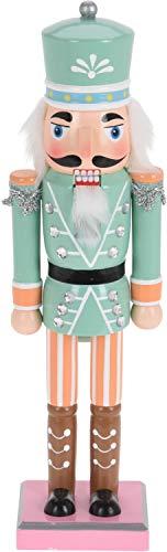 ZauberDeko Nussknacker Deko Figur Soldat Weihnachtsdeko Pastell Advent Weihnachten Adventsdeko, Modell:Hut Grün