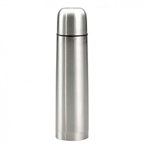 Edelstahl Isolierflasche doppelwandig 1 Liter Thermosflasche Thermoskanne Isolierkanne Thermoflasche mit Druckknopf System