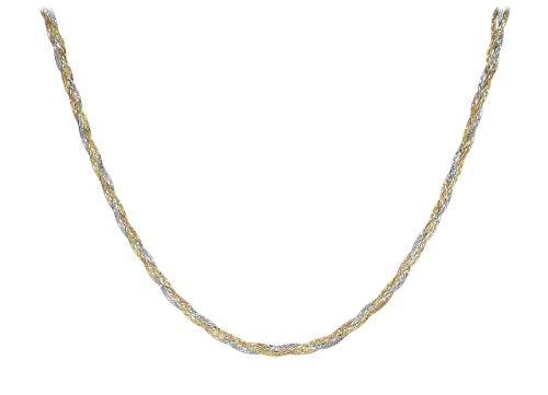 Carissima Gold - Collana da Donna in Oro Giallo, Bianco, Rosso 9K (375), 43 cm