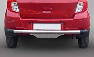 Goldsun Shimmering Snazzy strudy Long Durable high Gloss Stainless Steel Cars Bumper|end caps Fitted Rear Bumper Protector|for Maruti Suzuki Baleno|2015 - Present |All variants |SS Dx|