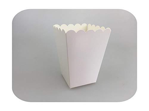 Geschenkbeutel, Reinweiß, Mini-Papier, Popcornschachtel, Süßigkeiten-Geschenk, Baby, Dusche, Hochzeit, Party, Geburtstag, 12-teiliges Set