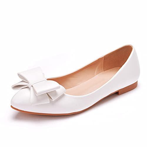 Zapatos Planos De Ballet para Mujer Zapatos De Boda con Punta Puntiaguda...