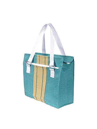 Foonty Daily Use Women Jute Lunch Bags(Sea Green,FFFWB6001)