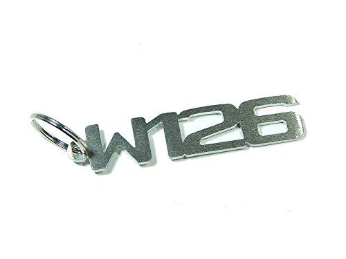 DisagrEE Porte-clés W126 en acier inoxydable brossé de qualité supérieure.