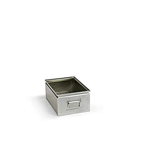 Stapelkasten aus Stahlblech - Inhalt ca. 25 l - verzinkt - Lagerbehälter Lagerbehälter aus Stahl Stahlblech-Stapelkasten Stahlblechkasten Stahlblechkästen Stapelbehälter aus Blech Stapelkasten Stapelkasten aus Stahlblech Stapelkästen Stapelkästen aus