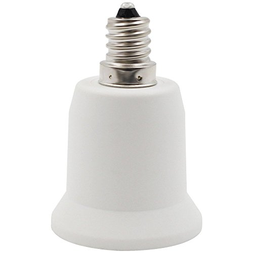 YiLighting - E12 Candelabra Screw to E26/E27 Standard Medium Edison Screw Base Socket Reducer Adapter Converter (E12 to E26/E27 Adapter) For LED CFL Lamp Light Bulb ONLY