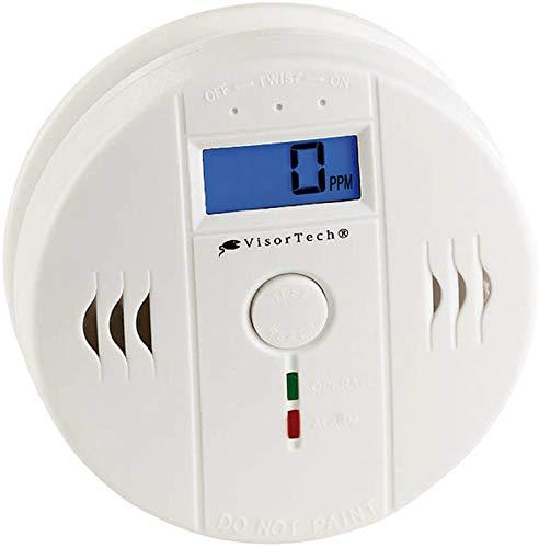 VisorTech CO Melder: Digitaler Kohlenmonoxid-Melder, LCD-Display, 85 dB Alarm, EN 50291 (Kohlenmonoxid Warnmelder)