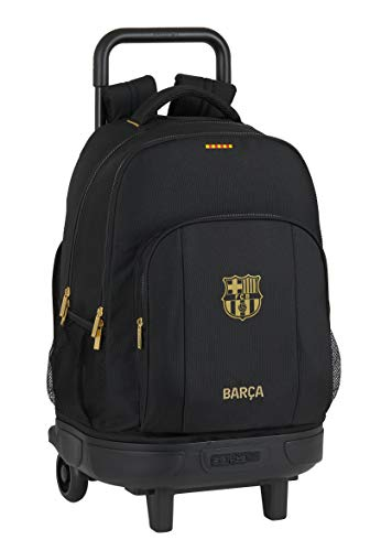 Mochila Safta Escolar con Carro Incluido y Espalda Acolchada de F.C. Barcelona 2ª Equip. 20/21, 330x220x450mm