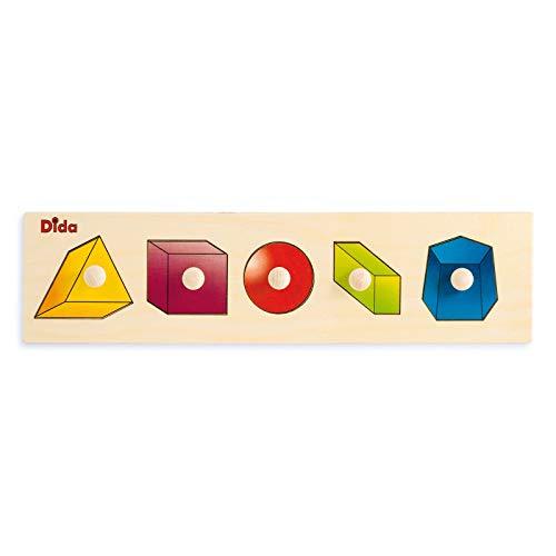 Dida - Puzzles secuencias - Sólidos Geométricos - Rompecabezas de Madera para niños
