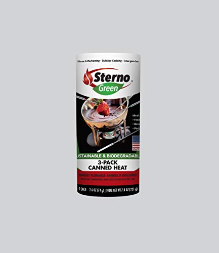 Sterno 20602 Entertainment Cooking Fuel, 3-Pack Canned Heat, 2.6 Ounce
